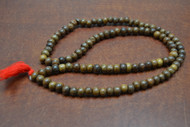Brown Wood Tibetan Buddhish Mala Prayer Beads 10mm