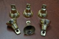 "Handmade Solid Metal Farm Brass Bells 1 3/4"""