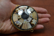 Brown Golden Mother of Pearl Shell Trinket Box