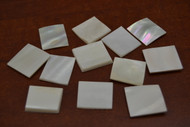"""White Square Mother of Pearl Shell Blanks 3/4"""""""