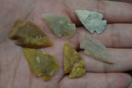 "Small Brown Agate Stone Spearpoint Arrowheads 1"" - 1 1/2"""