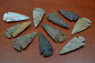 "Hand Carved Agate Stone Spearpoint Arrowheads 2"" - 2 1/2"""