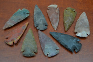 "Hand Carved Agate Stone Spearpoint Arrowheads 2 1/2"" - 3"""