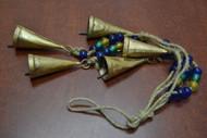 "5 Pcs Handmade Rusty Iron Metal Bells String 18"""