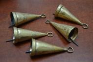 "Handmade Rusty Iron Metal Farm Bells 3"""