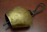 """Handmade Rusty Iron Metal Bell With Leather Handler 8 1/2"""""""