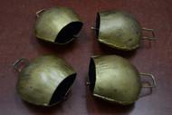 "Handmade Rusty Iron Metal Farm Bells 3 1/4"""