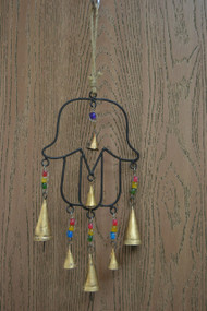 Handmade Metal Rusty Iron Bells With Glass Beads Windchime