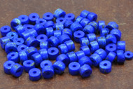 Dyed Dark Blue Plain Round Bone Beads 7mm