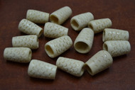 15 Pcs Carved Cream Big Buffalo Bone Tube Beads 1""