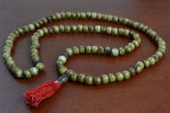 Coffee Brown Tibetan Buddhish Buffalo Bone Mala Prayer Beads 10mm