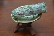 "Copy of Abalone Kit - 4"" Shell with 4"" Wood Stand and 4"" Sage"