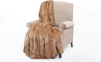 Amphora Brown Colleen Air Brushed Faux Fur Throw