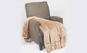 Amphora Brown Double Sided Faux Fur Oversized Throw