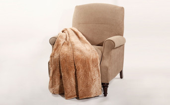 Amphora Brown Quilted Flannel Fleece Throw