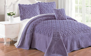 Daybreak Tatami Quilted Faux Fur Bed Spread Set