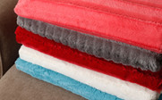 Derby Striped Double Sided Faux Fur Throw Blankets