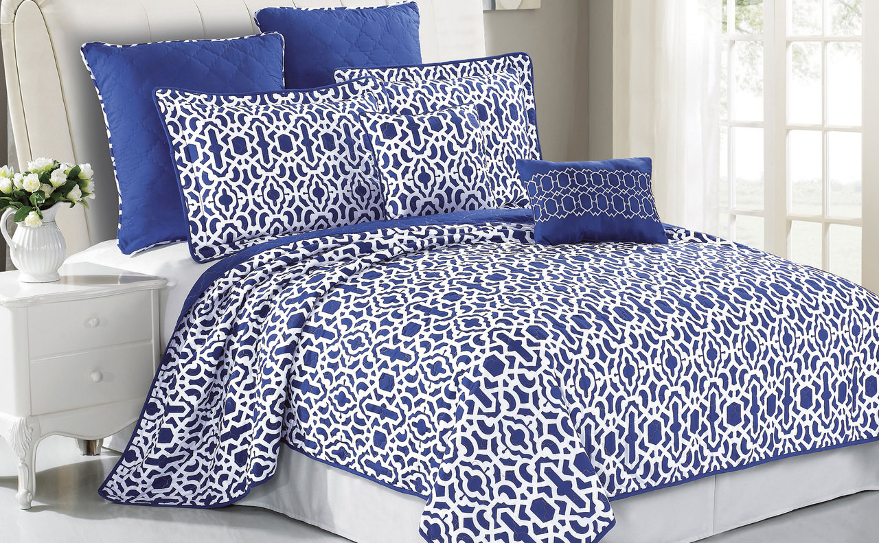 Montgomery Quilted 7 Piece Bed Spread Set Collection