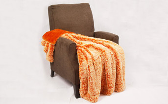 Burnt Orange Woolly Mammoth Throw