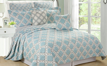 Monroe Quilted 7 Piece Bed Spread Set Collection