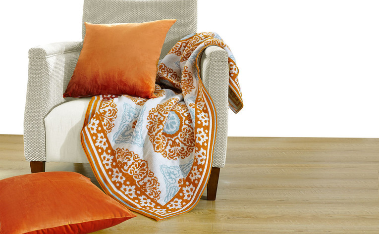Delia Knitted Throw Blanket And Pillow Shell Combo 3 Piece Set