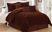 Carafe Rabbit Faux Fur 7 Piece Comforter Set