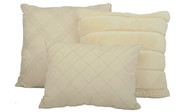 Oatmeal Rabbit Faux Fur 7 Piece Comforter Set Pillows