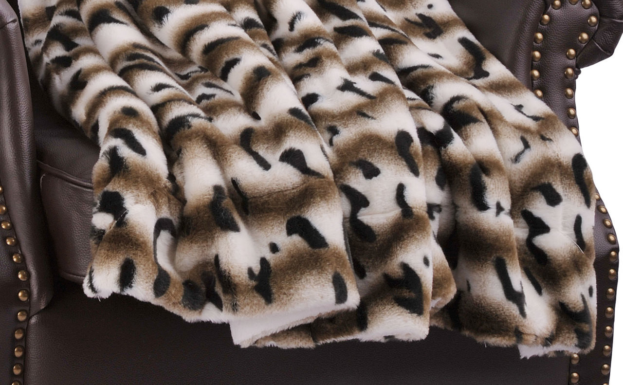 Amara Faux Fur And Sherpa Throw Blanket