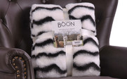 Irene Faux Fur and Sherpa Throw Blanket Retail Pack