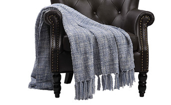 Ashley Blue Naga Knitted Throw