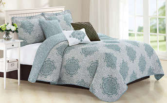 Chelsea 6 Piece Quilted Bed Spread Set