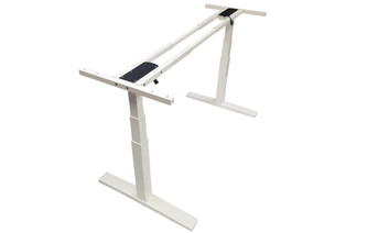 White Electric Automatic Adjustable Height Sit/Stand Desk Leg Frame Chassis
