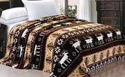 Chocolate Christmas Reindeer Snowflake Flannel Fleece Blankets