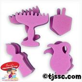 Affordable Synthetic Hanukkah (Chanukah) Coloring Sponge Set