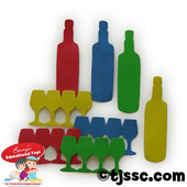 Passover Bottles & 4 Cups Foam Shapes for Jewish Arts & Crafts