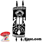 Dressed Torah Rubber Stamp