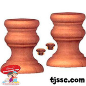1 Pair of Wooden Candlesticks for Decorating