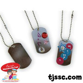 Dog-Tag Necklaces for Decoration