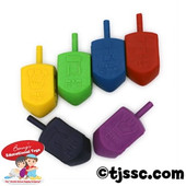 Jumbo Plastic Chanukah Dreidles at Bulk Discount