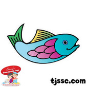 Colorful Fish Card Stock Cut Outs