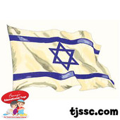 Israeli Flag Card Board Cut Outs