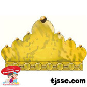 Gold Colored Crown Scalloped Card Board