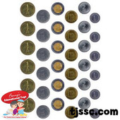 Israeli Play Money Coins