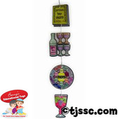 Translucent Passover Plastic Mobiles for Coloring