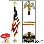 US Indoor Flag and Pole Kit