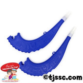 Plastic Toy Shofar in blue and white only