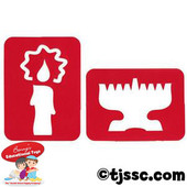 Candle & Menorah Jeiwsh Tracing Stencil Set