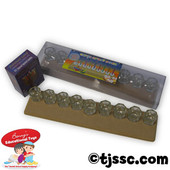 Large Menorah with Glass Candle Cups
