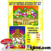 Dot By Number Sticker Art Kit-Jerusalem Wall & Beit Ha Mikdash