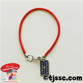 Red Bracelet with Ten Commandments